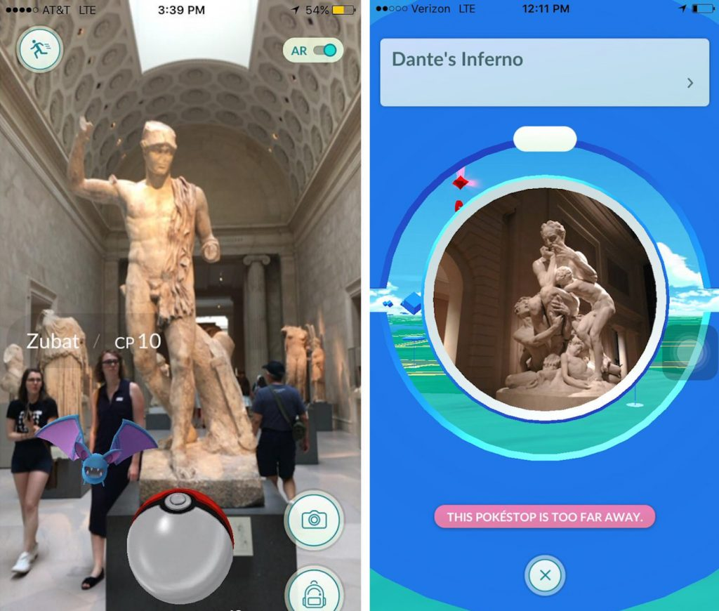 Pokemon go au British Muséum