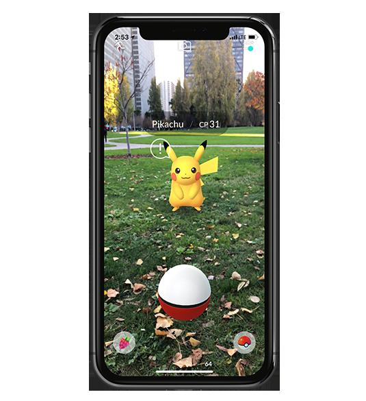 Application en réalité augmentée Pokemon Go!