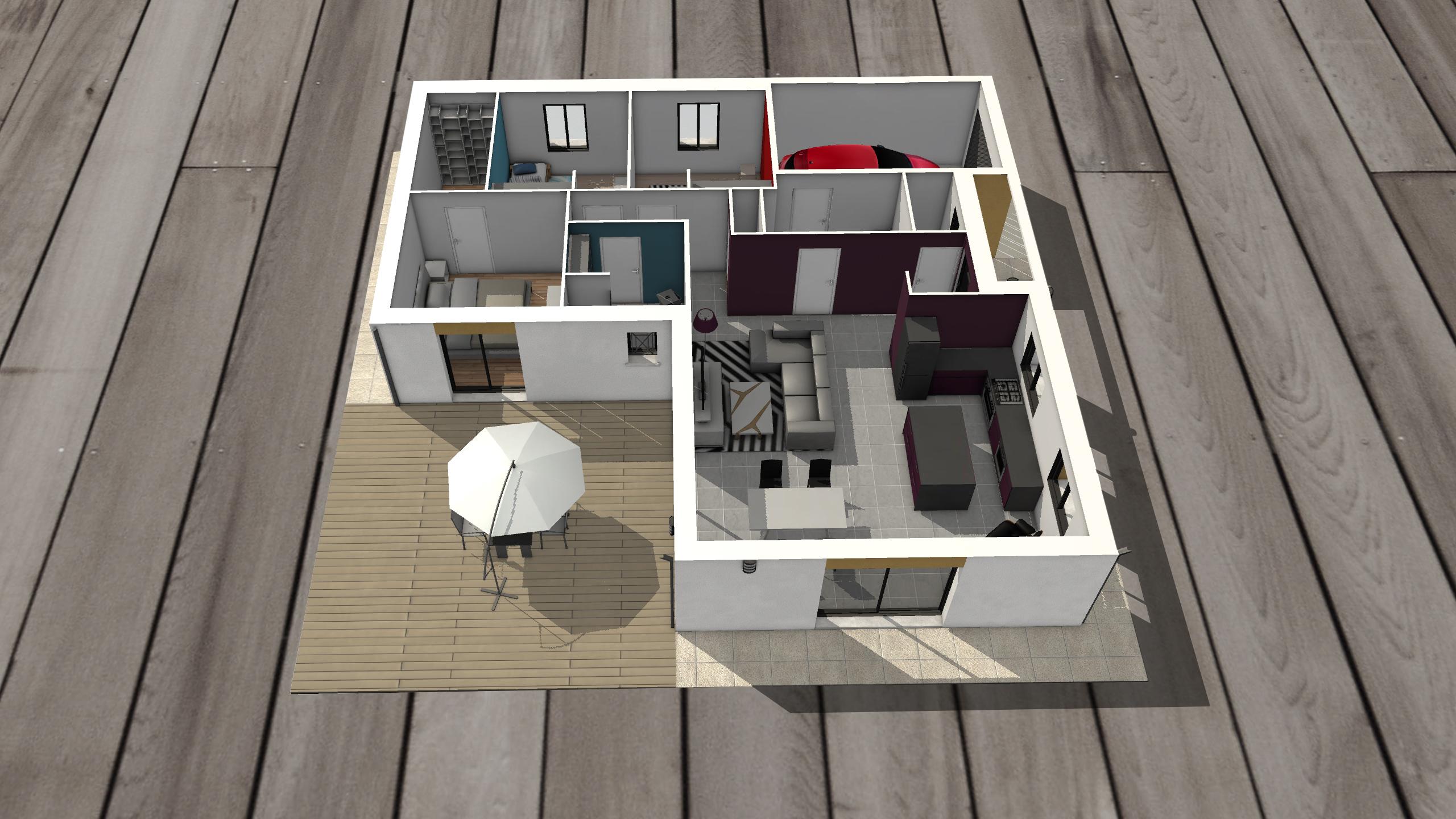 maison en réalité augmentée à taille réduite